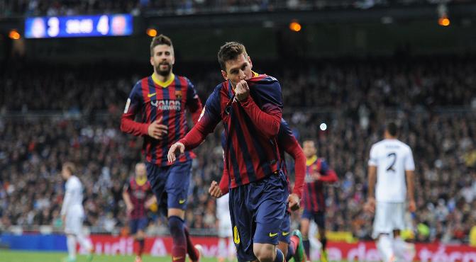 Leo Messi at El Clásico